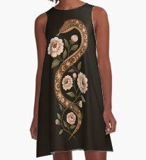 Schlangenzauber A-Linien Kleid