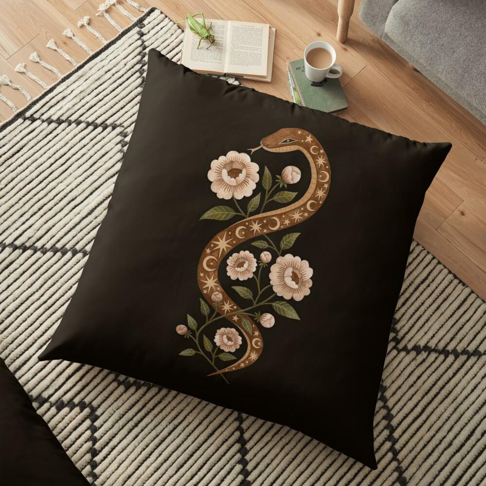 Serpent spells Floor Pillow