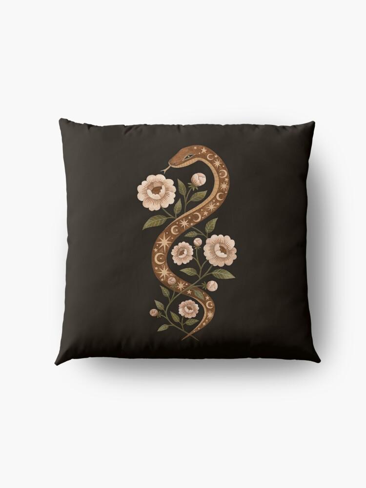 Alternate view of Serpent spells Floor Pillow