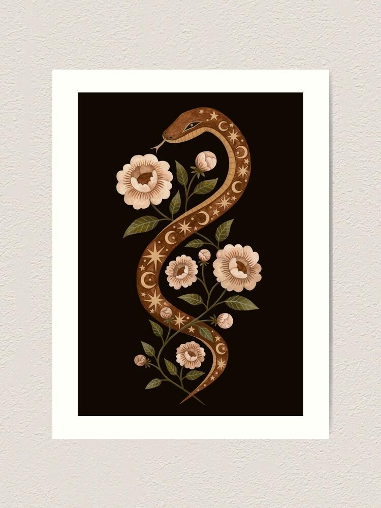 Alternate view of Serpent spells Art Print