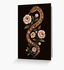 Serpent spells Greeting Card