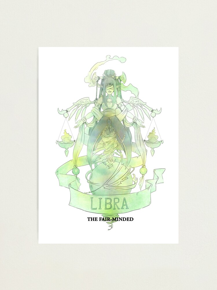 Alternate view of Libra, The Fair-minded Photographic Print
