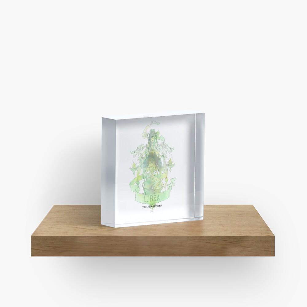 Libra, The Fair-minded Acrylic Block