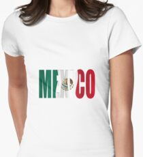 Mexican flag overlay  Women's Fitted T-Shirt