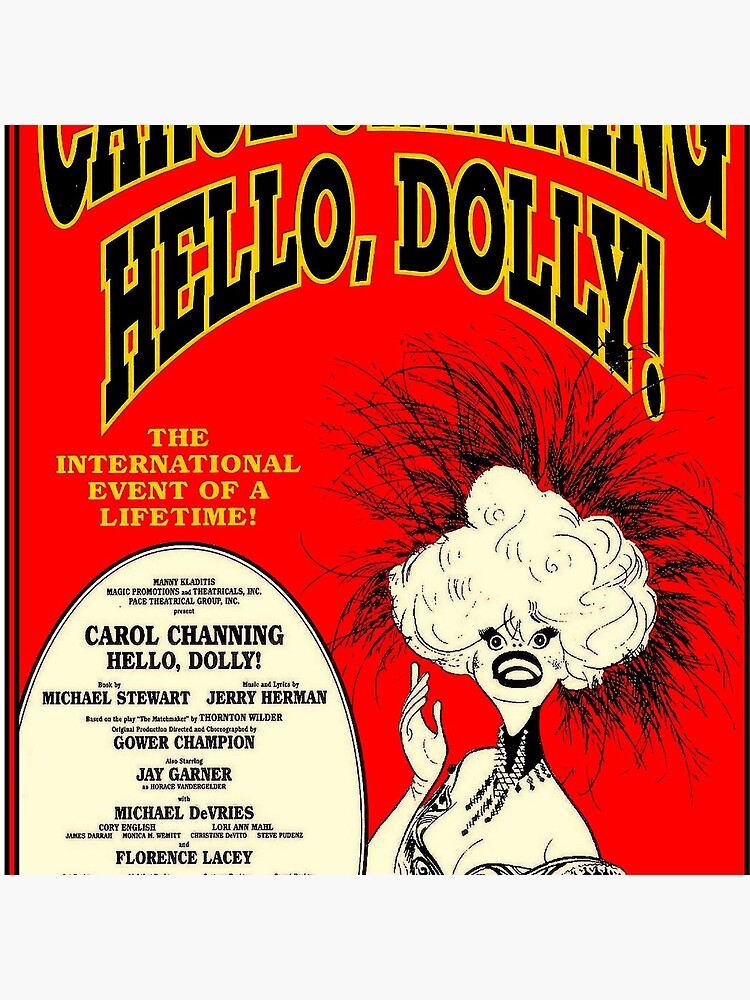 HELLO DOLLY : Vintage Carol Channing Broadway Musical Print by posterbobs