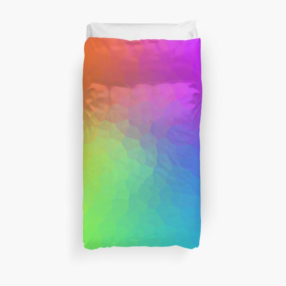 Rainbow Crystal Gradient Duvet Cover