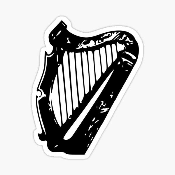 harpe. guinness, irlandais Sticker