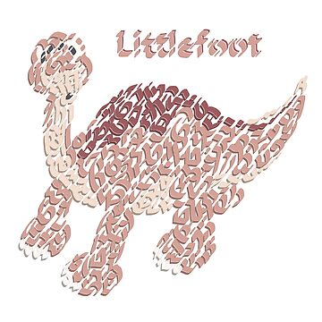 """Littlefoot"" the Little Dinosaur  by Karotene"