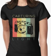 Retro Vintage Photographer Capturing Light Gift  Women's Fitted T-Shirt