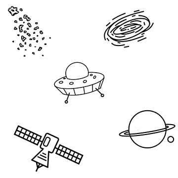 individual space drawings by rubyoakley