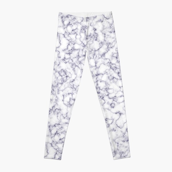 blue veined white marble Leggings