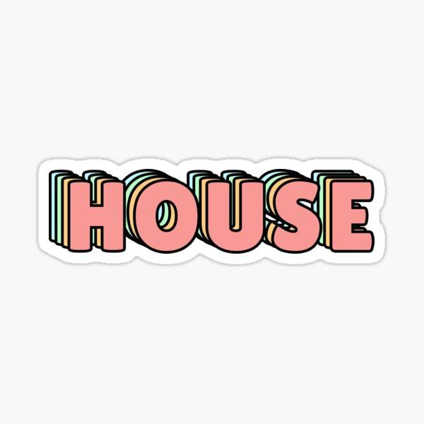 House Pastel  Sticker
