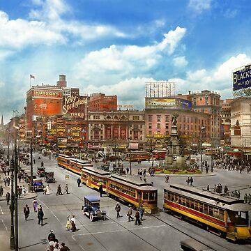 City - Detroit MI - Motor City 1917 by mikesavad