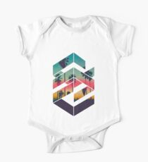 Geometric Sunset beach T-shirt One Piece - Short Sleeve