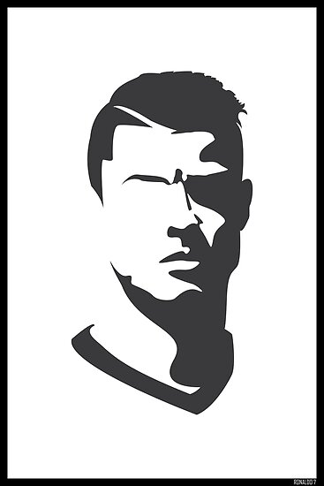Quot Cristiano Ronaldo Vector Portrait Quot Posters By Uberboy