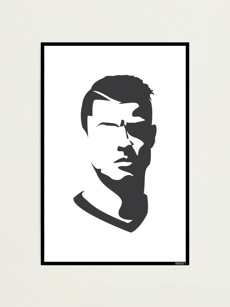 Cristiano Ronaldo Vector Portrait Photographic Print By Uberboy Redbubble