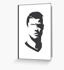 Cristiano Ronaldo Vector Portrait Greeting Card