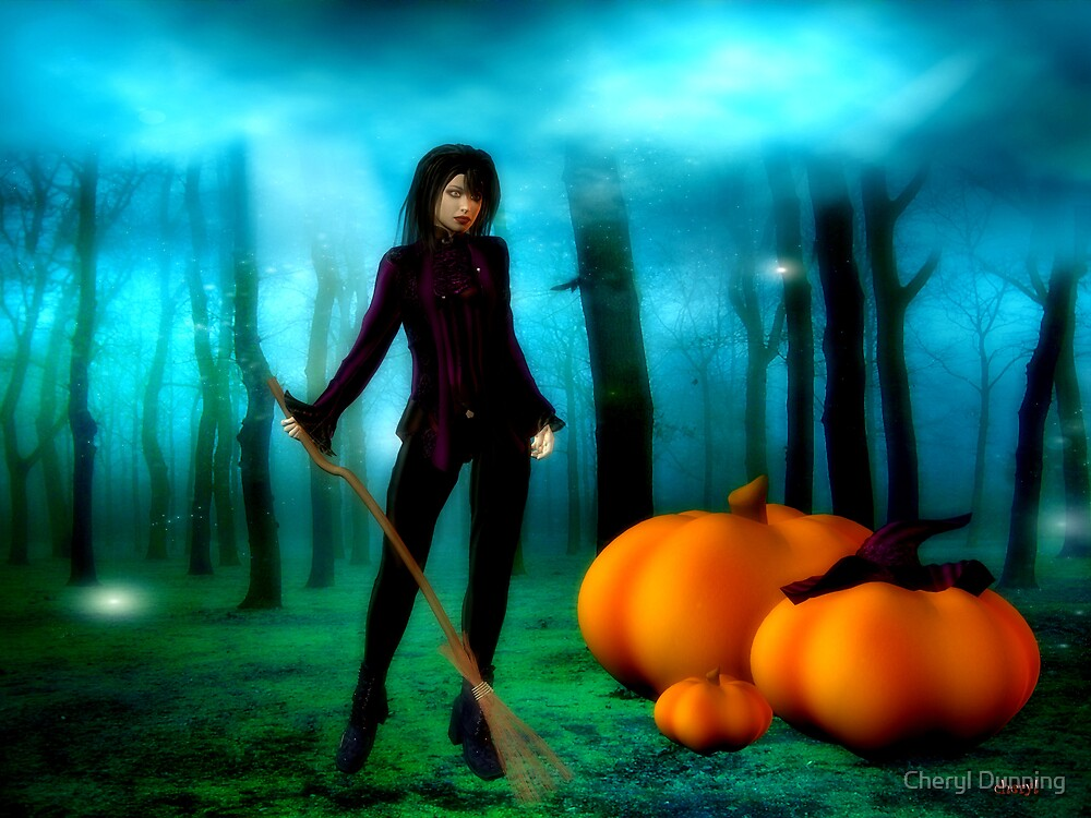 witchy forest by Cheryl Dunning