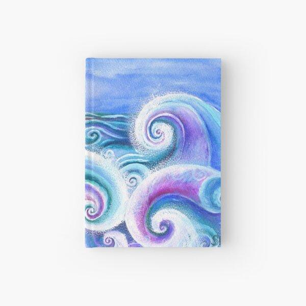 Fibonacci's Wave, Ocean Art. Hardcover Journal