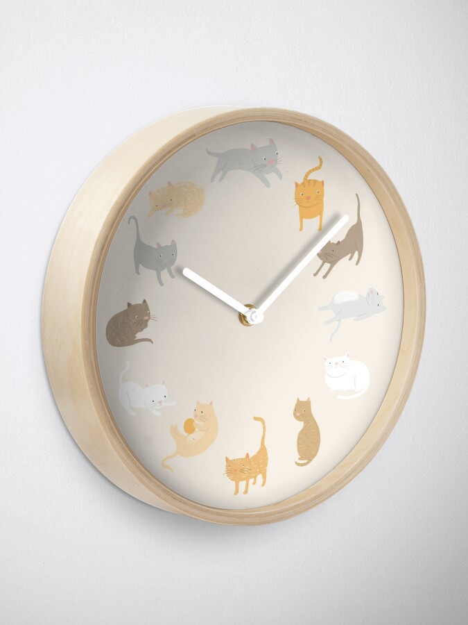 Alternate view of It's Cat Time of Day… Clock