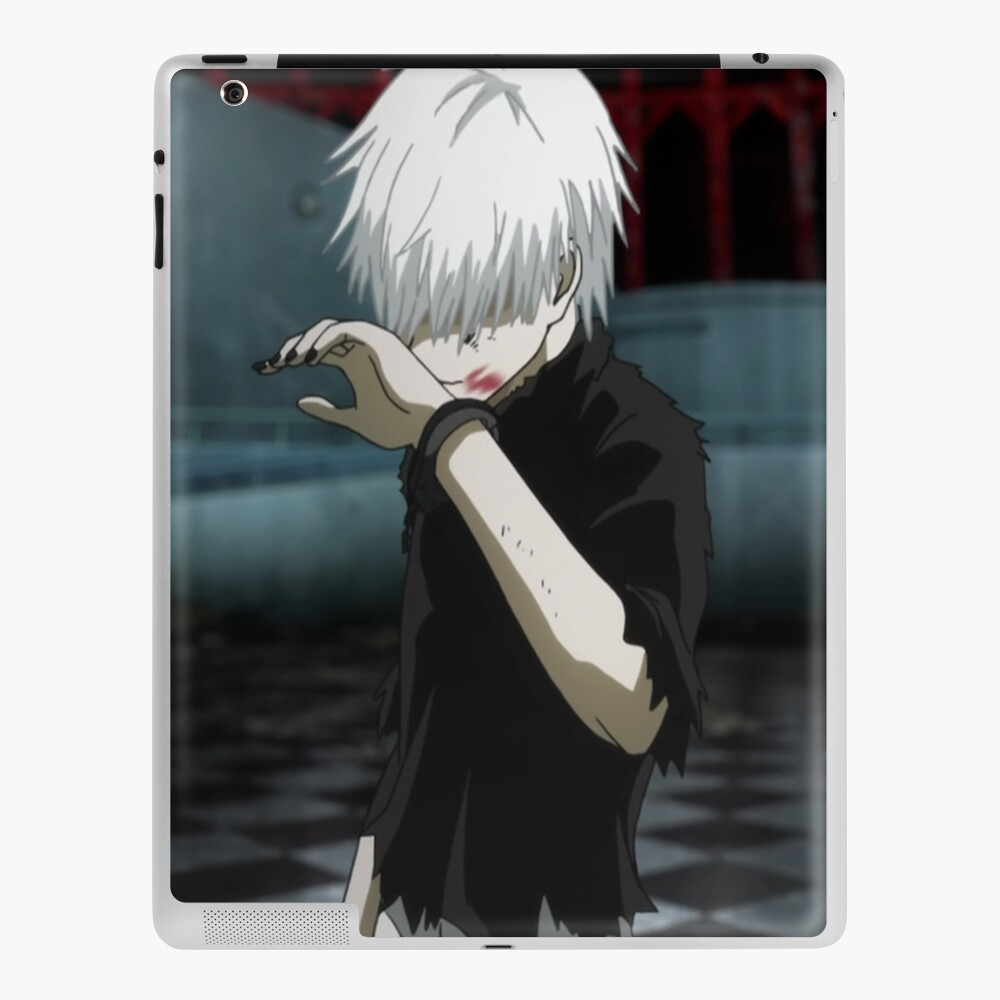 White Haired Kaneki Tokyo Ghoul Ipad Case Skin By Helloitssilver Redbubble