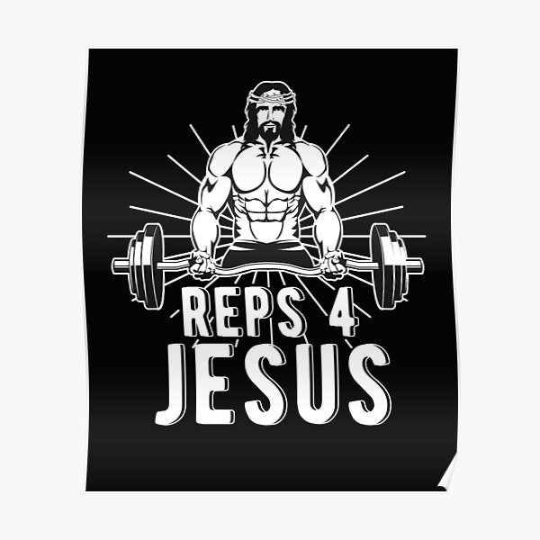 Jesus Bodybuilding Poster