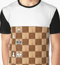 Game of Chess, #bishop, #capture, #castle, #check, #checkmate, #chess, #chessboard, #chessman Graphic T-Shirt