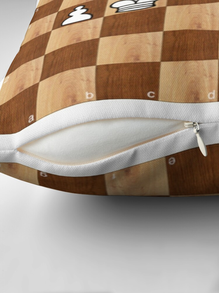 Alternate view of Game of Chess, #bishop, #capture, #castle, #check, checkmate, chess, chessboard, chessman Throw Pillow