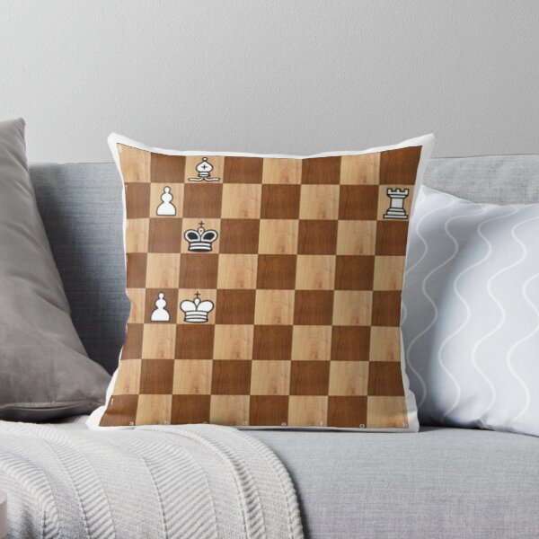 Game of Chess, #bishop, #capture, #castle, #check, checkmate, chess, chessboard, chessman Throw Pillow
