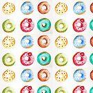 Donuts watercolor illustration  by sylvianik