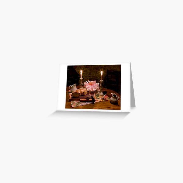 Bread, Wine, and Peony Greeting Card