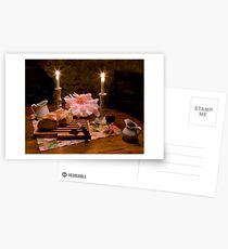 Bread, Wine, and Peony Postcards