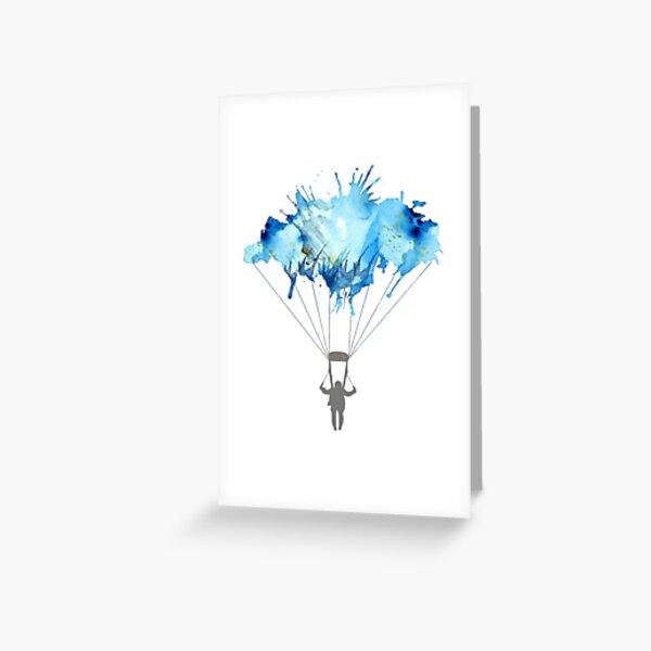 parachutisme Carte de vœux