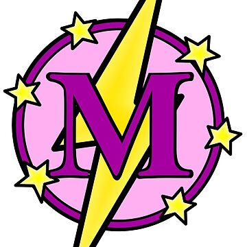Cute Superhero Girl Super Letter M - Pink and Purple by AMagicalJourney