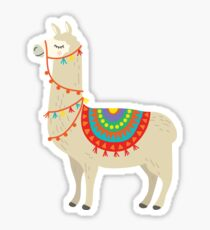 Party Llama Sticker