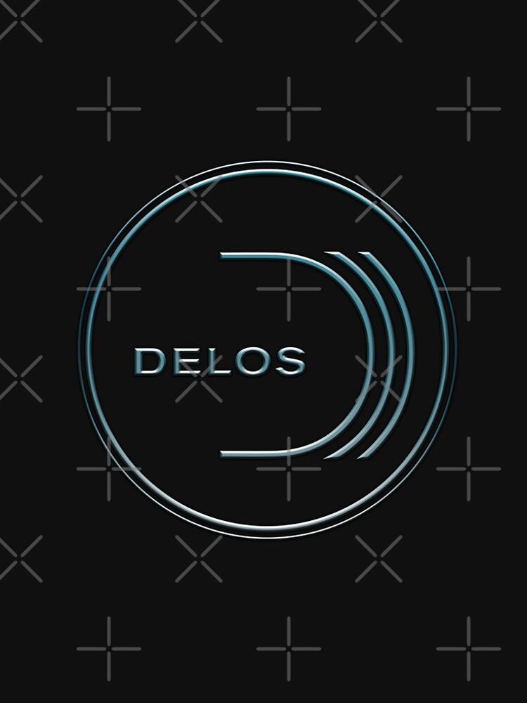 9c651f5ca76e WestWorld Delos Inc Logo by SkyPouikPouik. WestWorld Delos Inc Logo Men s  Premium T-Shirt Front