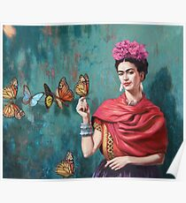 paint butterfly art Poster