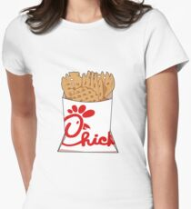 Chick fil A Fries Women's Fitted T-Shirt