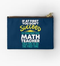 If At First You Dont Succeed - Funny Teacher Gift Täschchen