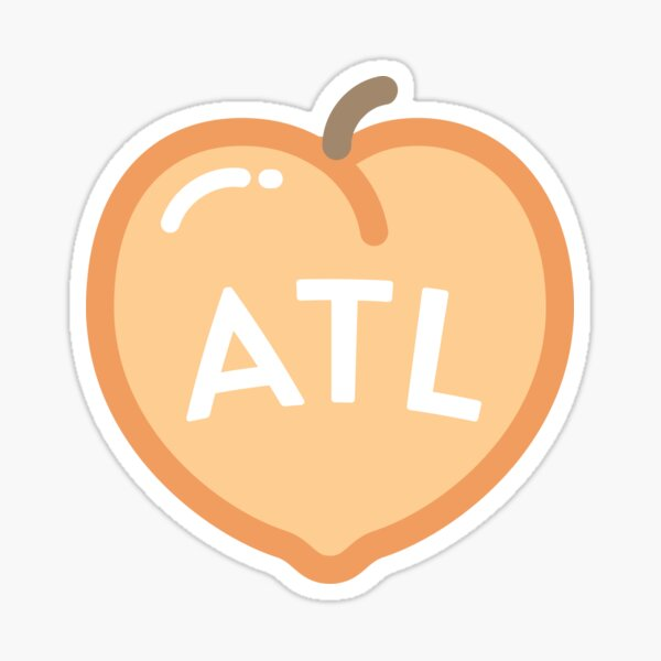 Atlanta Peach  Sticker