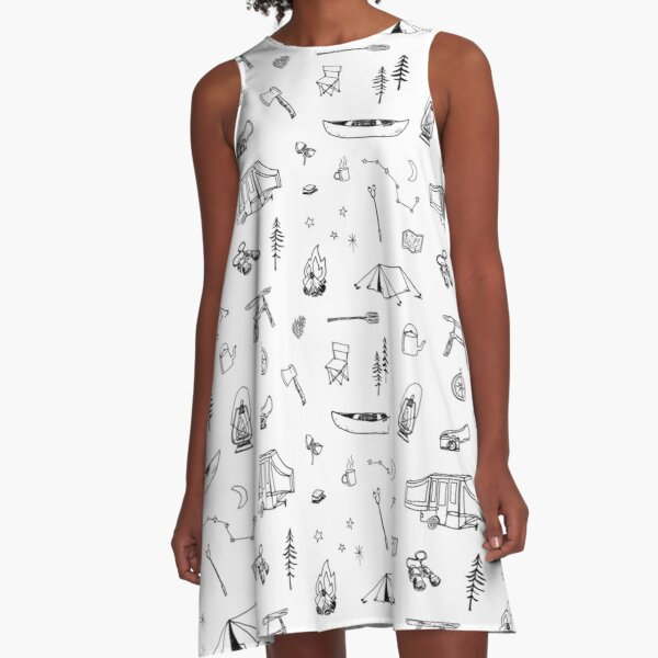 Simple Camping A-Line Dress