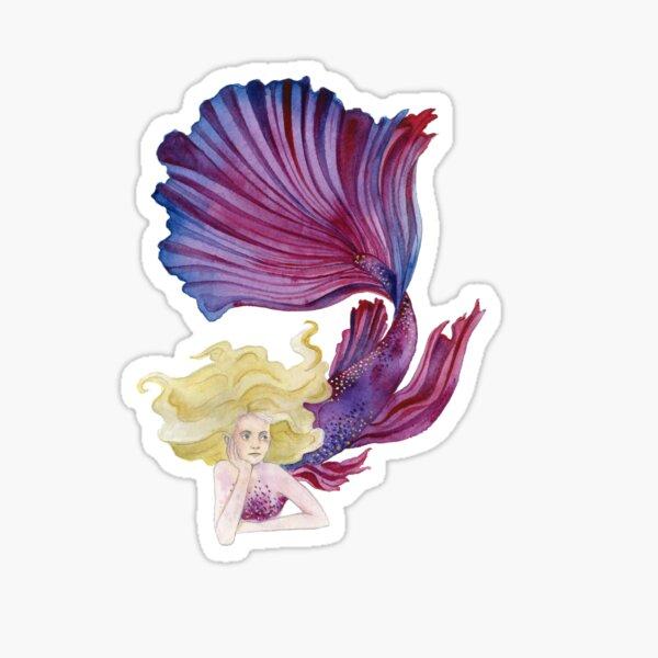 Purple and Pink Mermaid Sticker