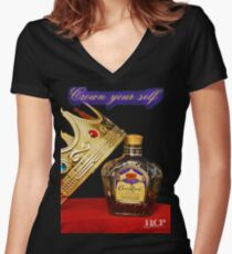 Crown Royal Women's Fitted V-Neck T-Shirt