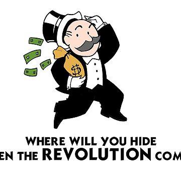 American Rich banker capitalist monopoly dollar kids by GarciaPayan