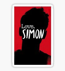 Love Simon Siluet Sticker