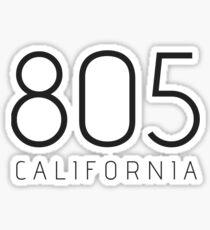 CALIFORNIA 805 • BLACK Sticker
