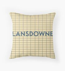 LANSDOWNE Subway Station Throw Pillow