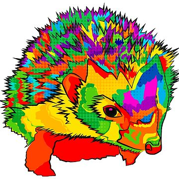 Psychedelic Hedgehog by BeeFoxTree