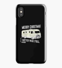 Merry Christmas Shitter Was Full Black Vintage  iPhone Case