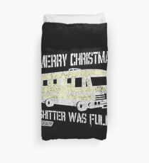 Merry Christmas Shitter Was Full Black Vintage  Duvet Cover